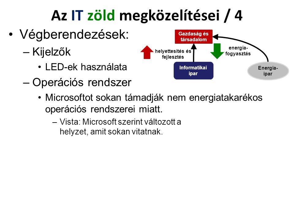 Az IT zöld megközelítései / 4