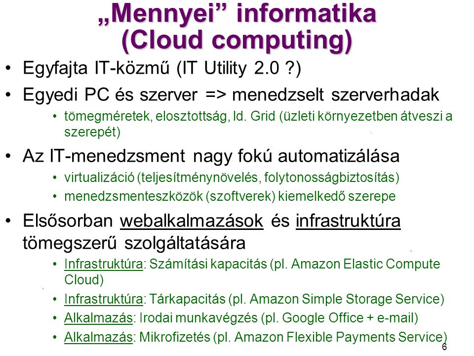 """Mennyei informatika (Cloud computing)"