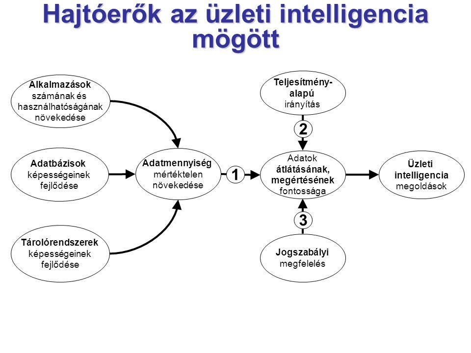 Hajtóerők az üzleti intelligencia mögött