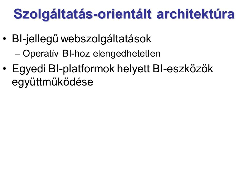 Szolgáltatás-orientált architektúra