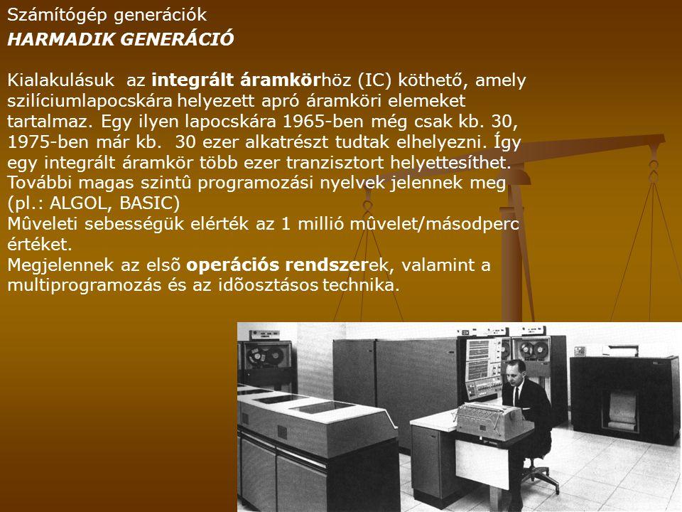 Számítógép generációk