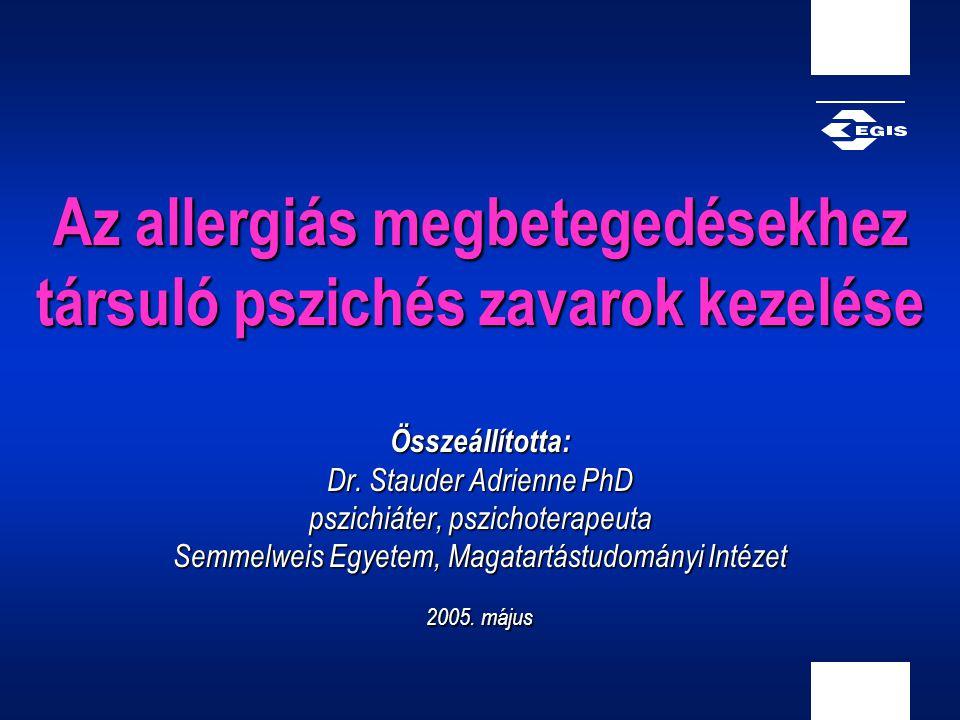 Az allergiás megbetegedésekhez társuló pszichés zavarok kezelése