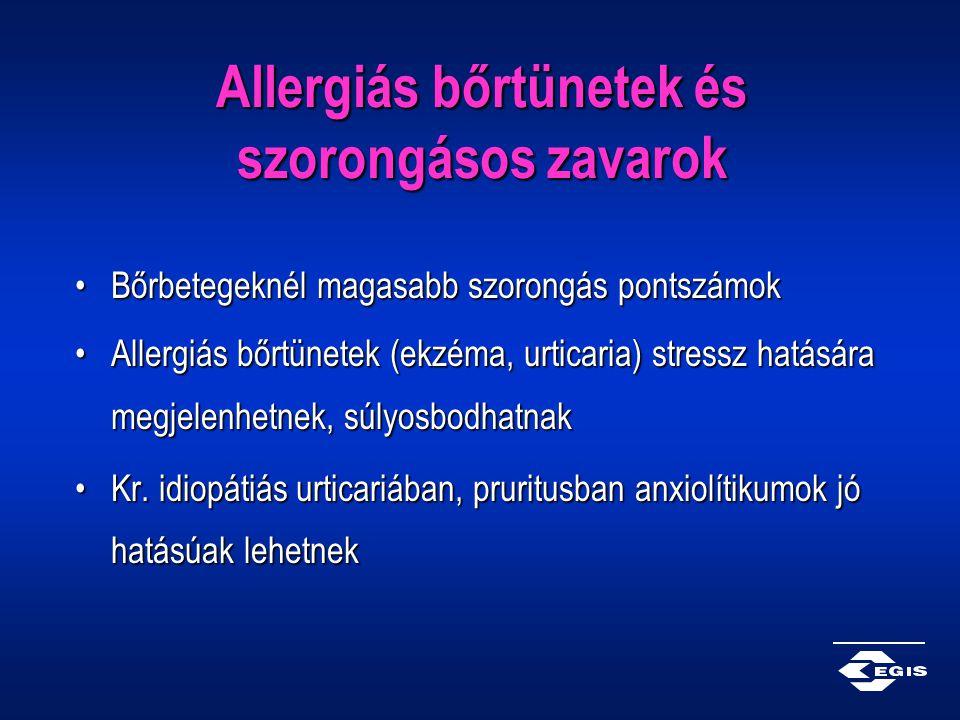 Allergiás bőrtünetek és szorongásos zavarok