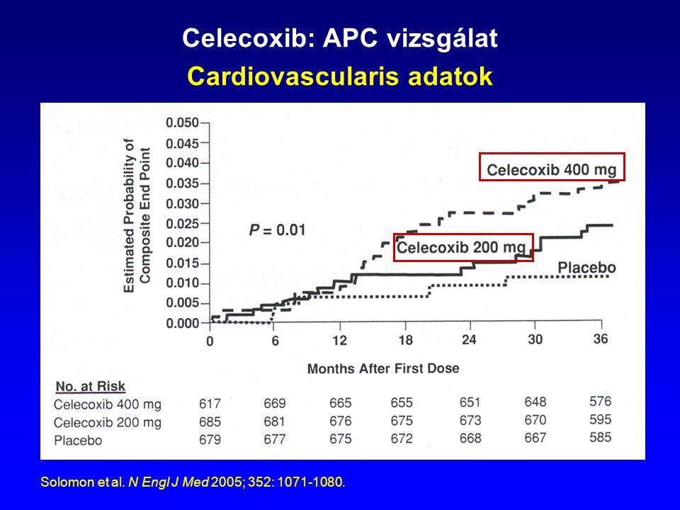 Celecoxib: APC vizsgálat Cardiovascularis adatok