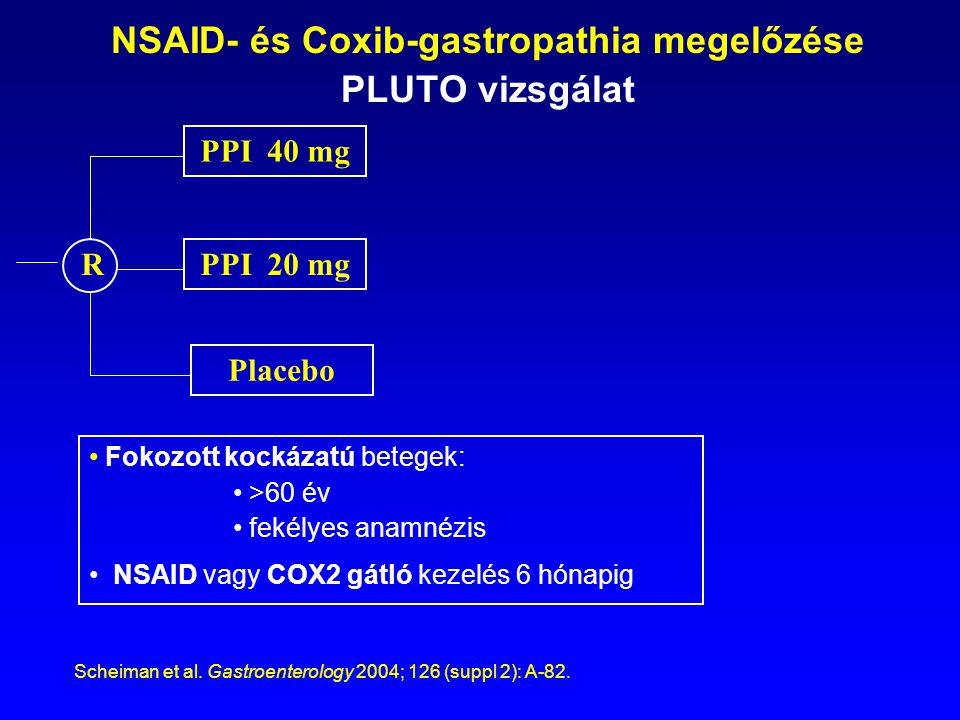NSAID- és Coxib-gastropathia megelőzése PLUTO vizsgálat