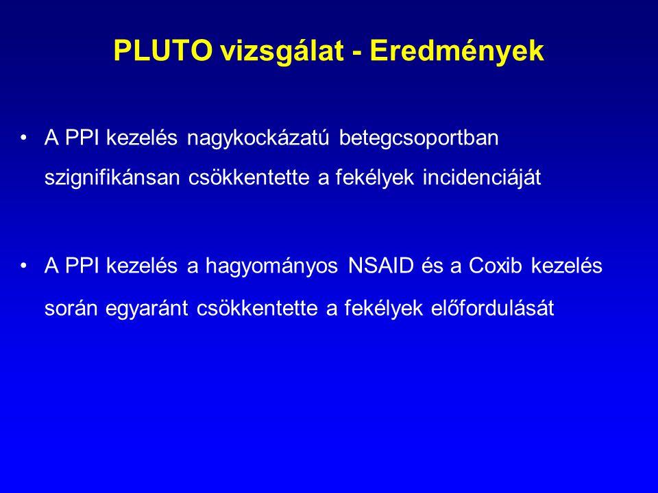 PLUTO vizsgálat - Eredmények