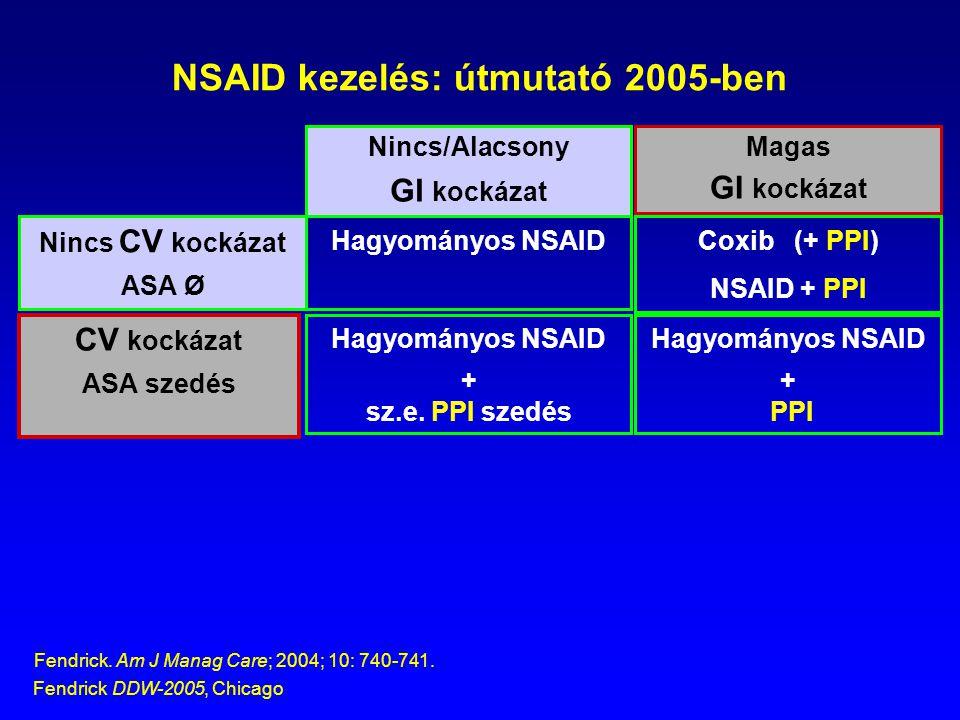 NSAID kezelés: útmutató 2005-ben