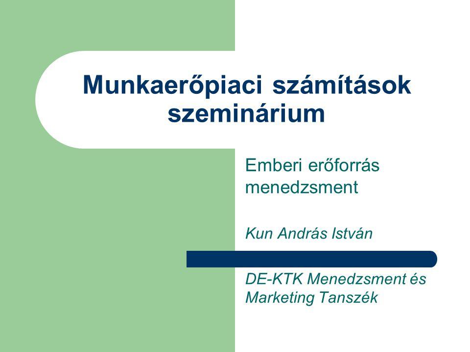 Munkaerőpiaci számítások szeminárium