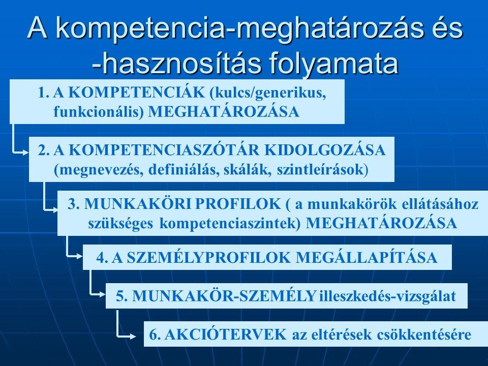 A kompetencia-meghatározás és -hasznosítás folyamata