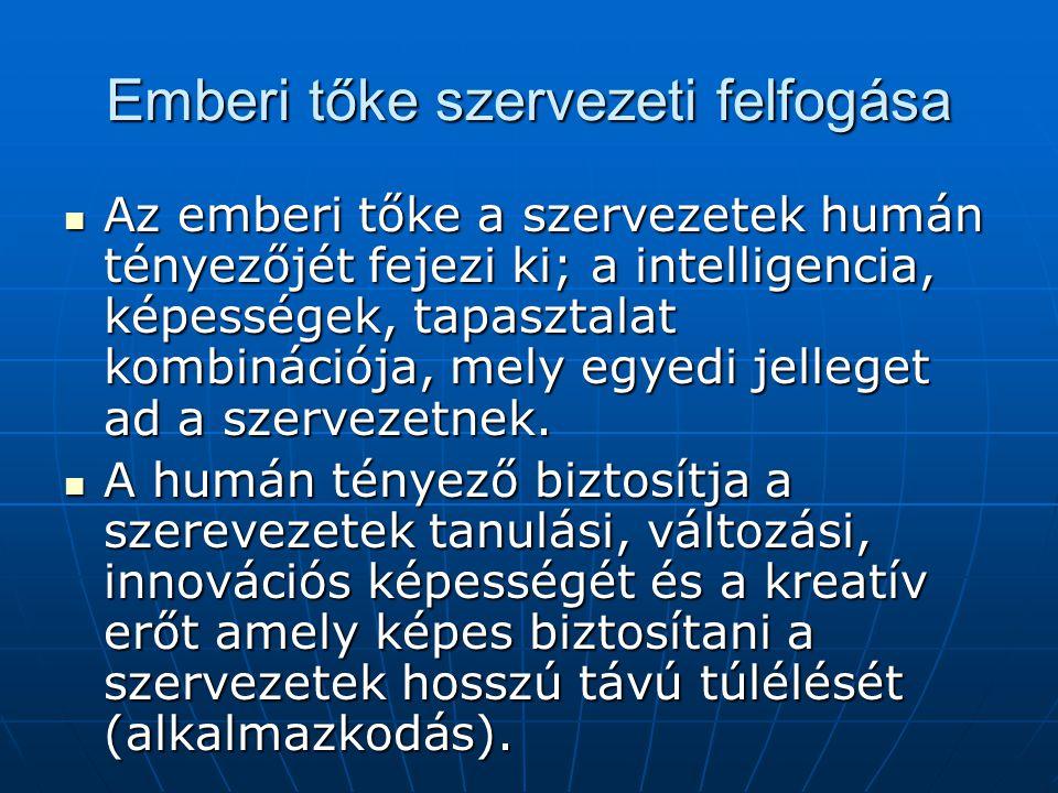 Emberi tőke szervezeti felfogása