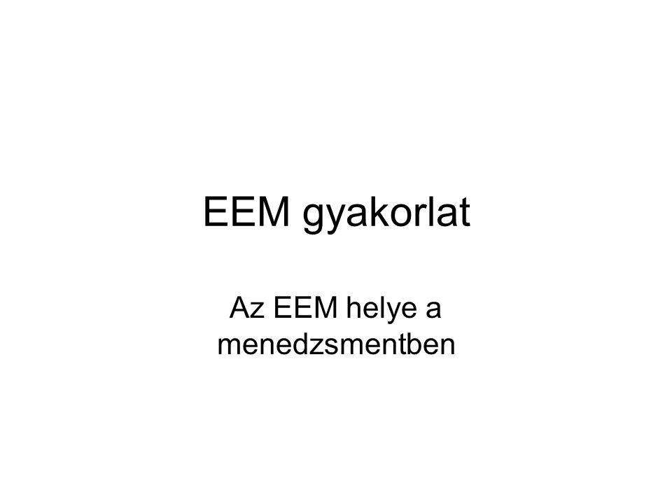 Az EEM helye a menedzsmentben