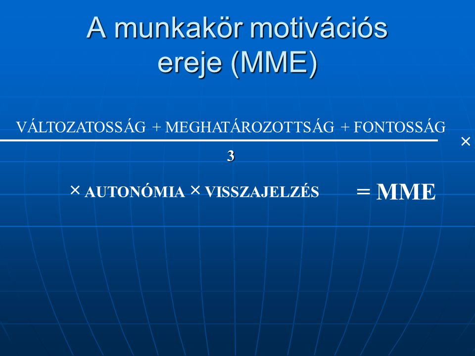 A munkakör motivációs ereje (MME)