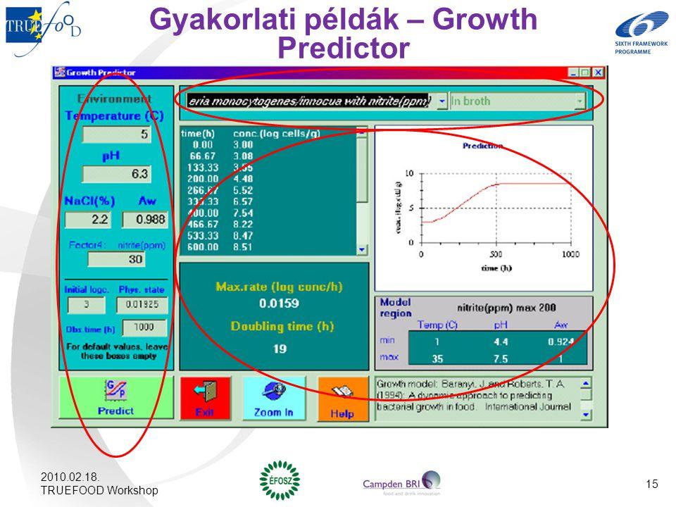 Gyakorlati példák – Growth Predictor