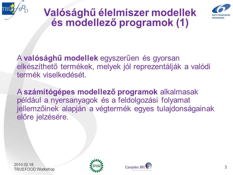 Valósághű élelmiszer modellek és modellező programok (1)