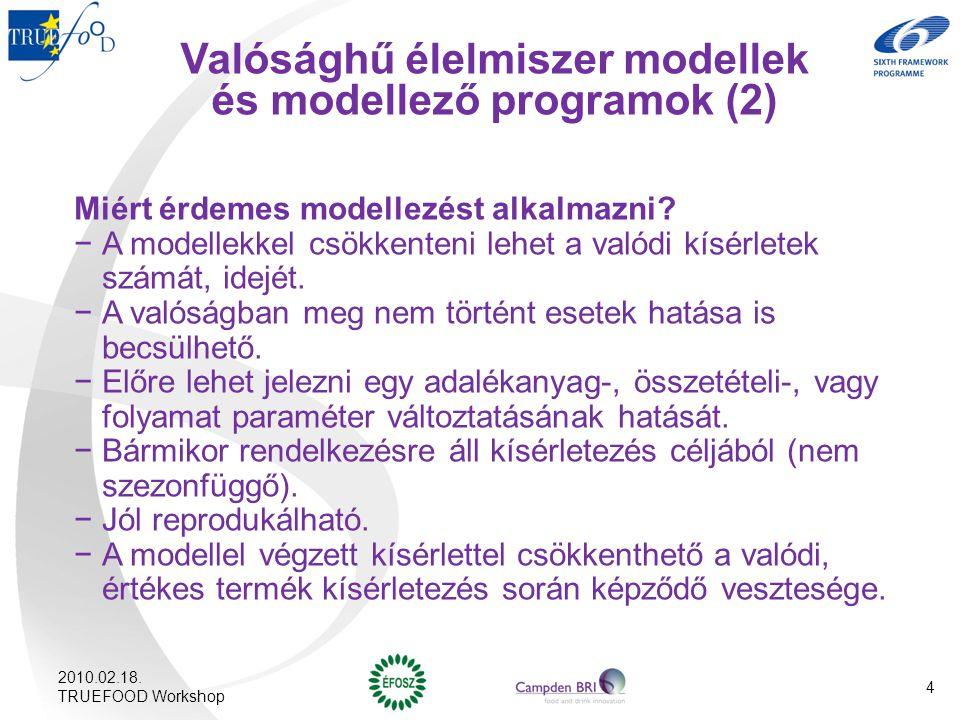 Valósághű élelmiszer modellek és modellező programok (2)