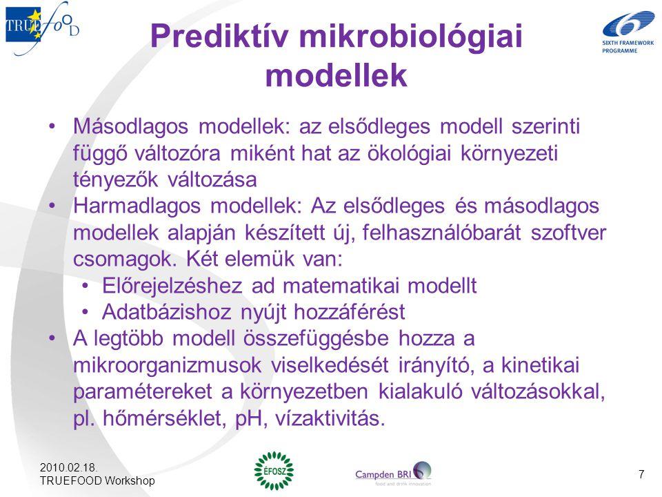 Prediktív mikrobiológiai modellek