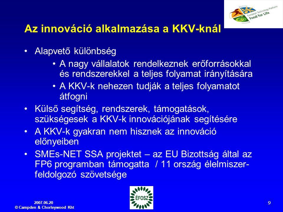 Az innováció alkalmazása a KKV-knál