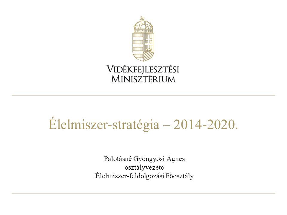 Élelmiszer-stratégia – 2014-2020.
