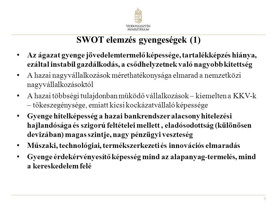 SWOT elemzés gyengeségek (1)