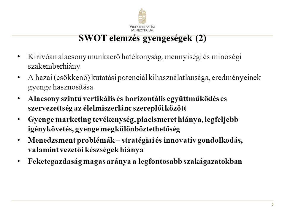 SWOT elemzés gyengeségek (2)