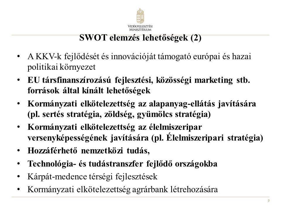SWOT elemzés lehetőségek (2)