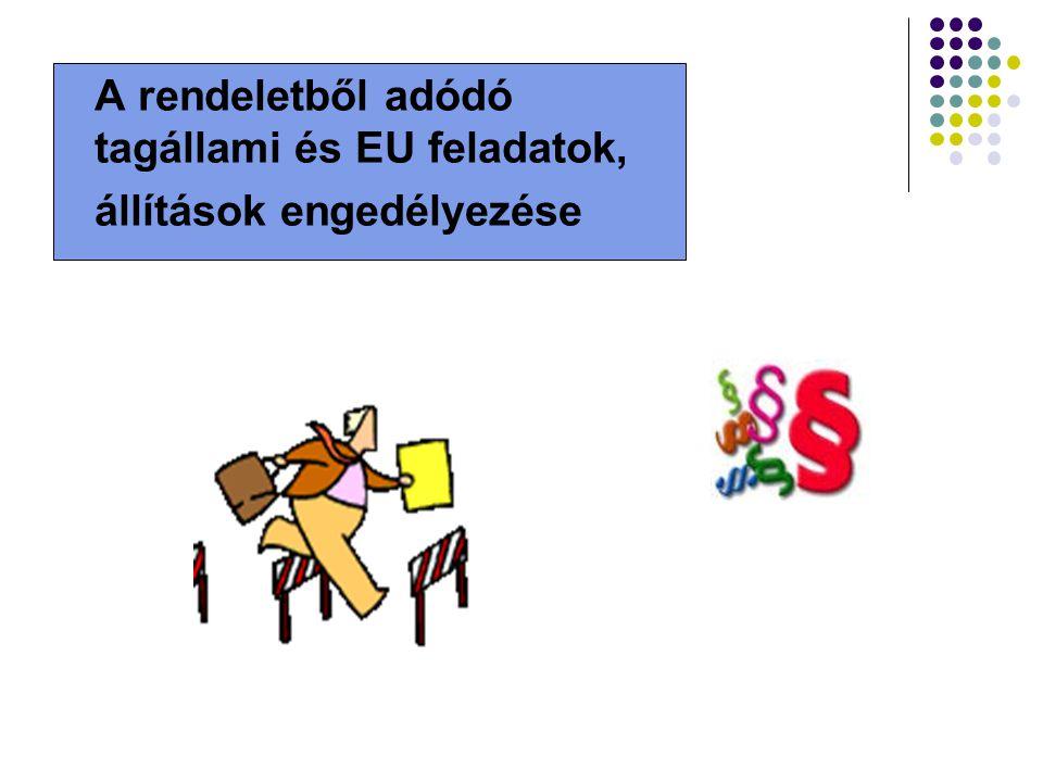 A rendeletből adódó tagállami és EU feladatok,