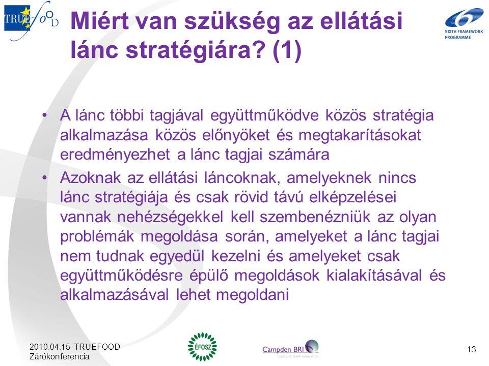 Miért van szükség az ellátási lánc stratégiára (1)