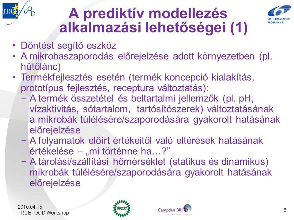A prediktív modellezés alkalmazási lehetőségei (1)