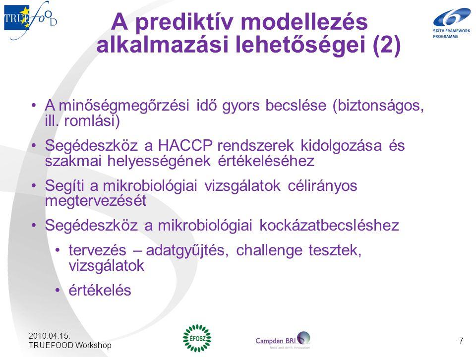 A prediktív modellezés alkalmazási lehetőségei (2)