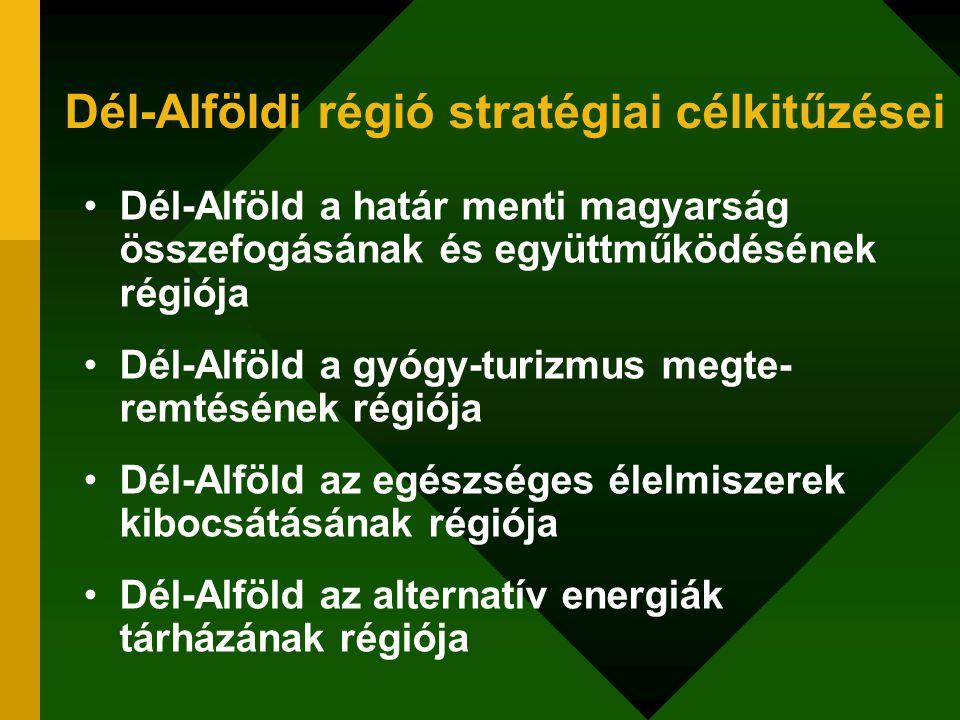 Dél-Alföldi régió stratégiai célkitűzései