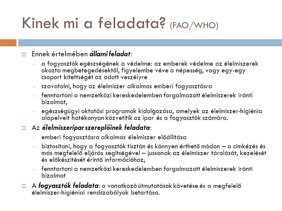 Kinek mi a feladata (FAO/WHO)