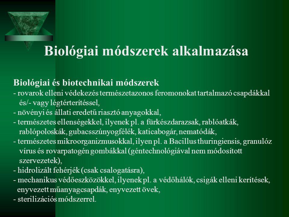 Biológiai módszerek alkalmazása