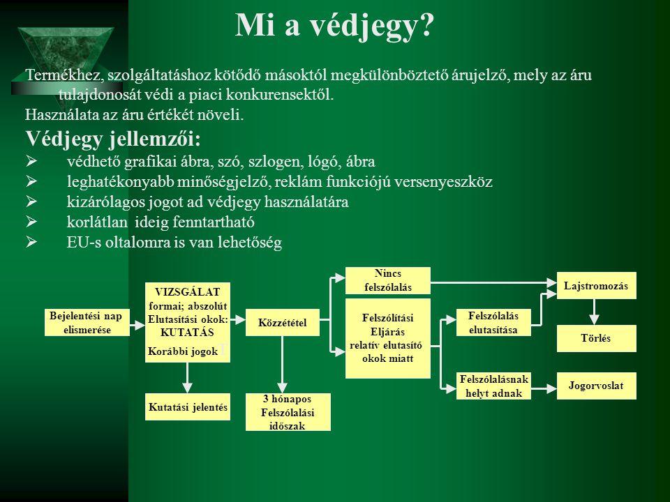 Mi a védjegy Védjegy jellemzői: