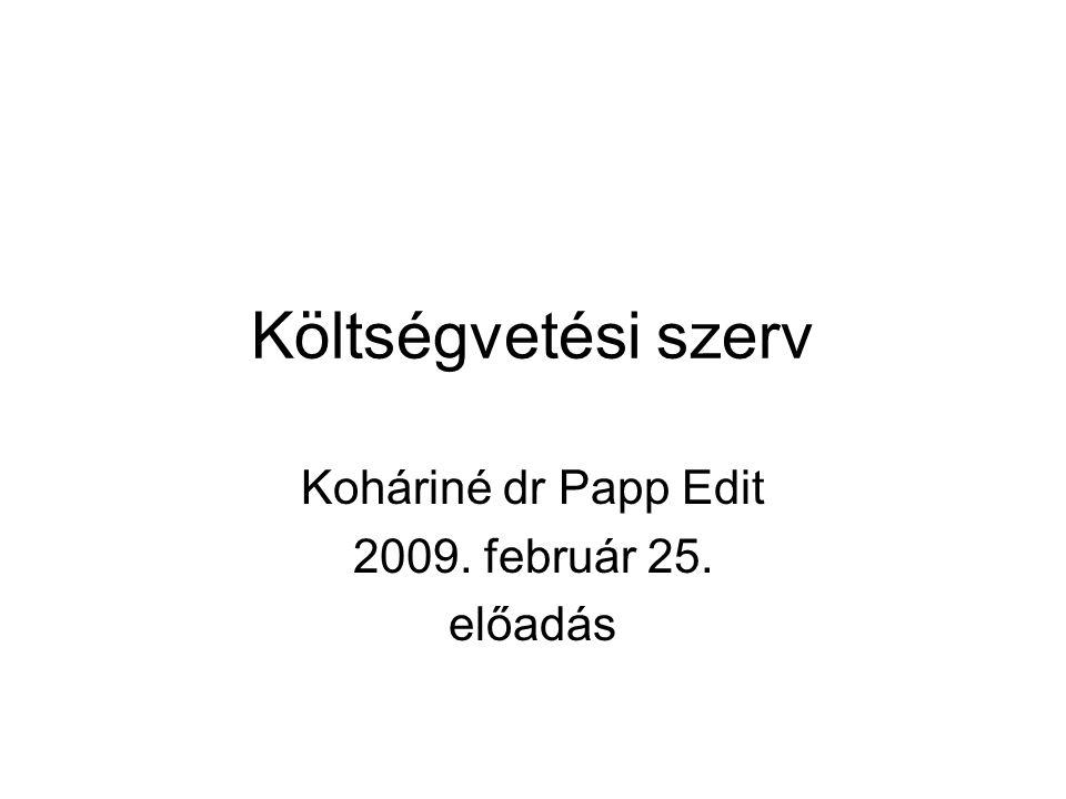 Koháriné dr Papp Edit 2009. február 25. előadás