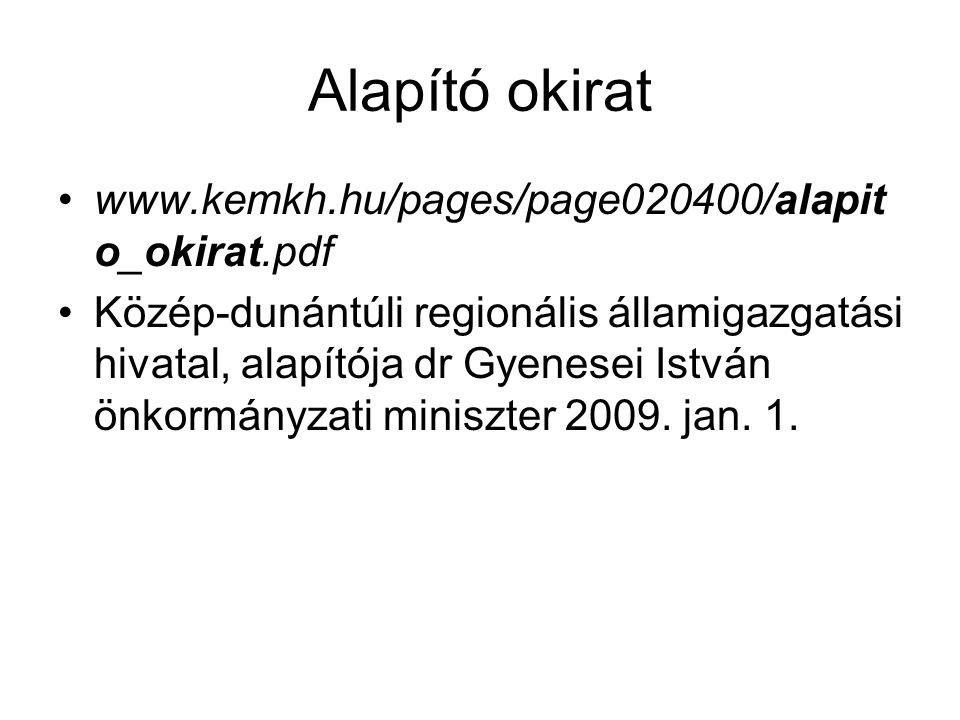 Alapító okirat www.kemkh.hu/pages/page020400/alapito_okirat.pdf