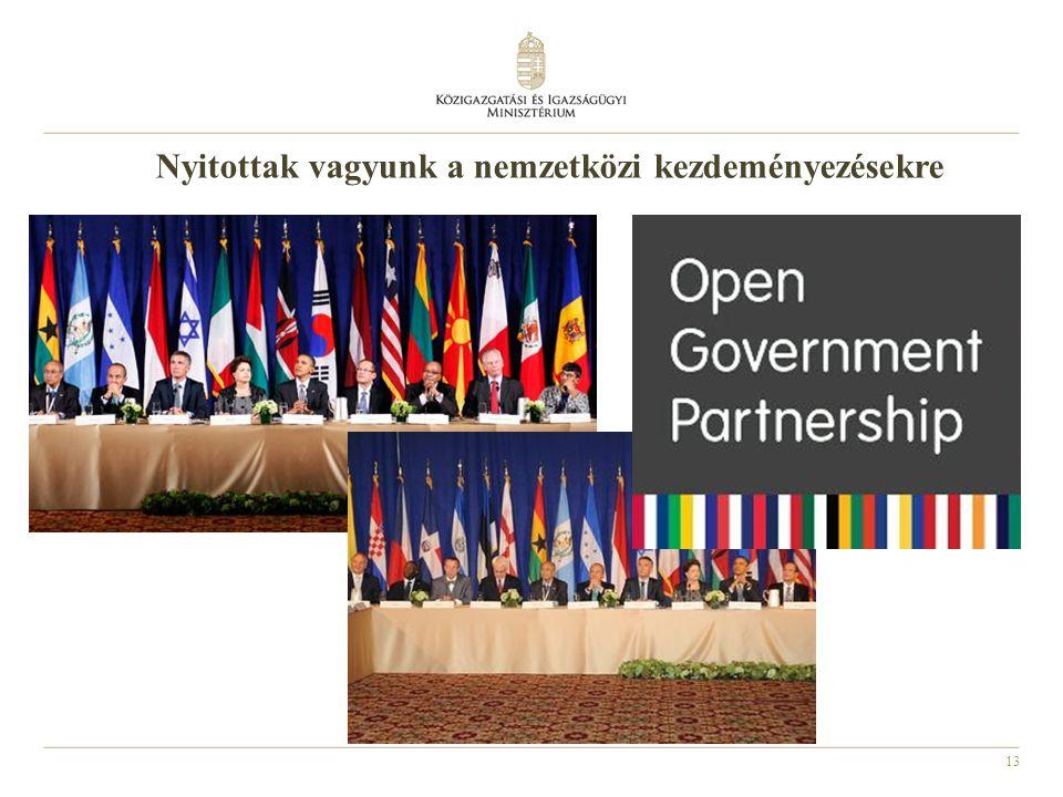 Nyitottak vagyunk a nemzetközi kezdeményezésekre