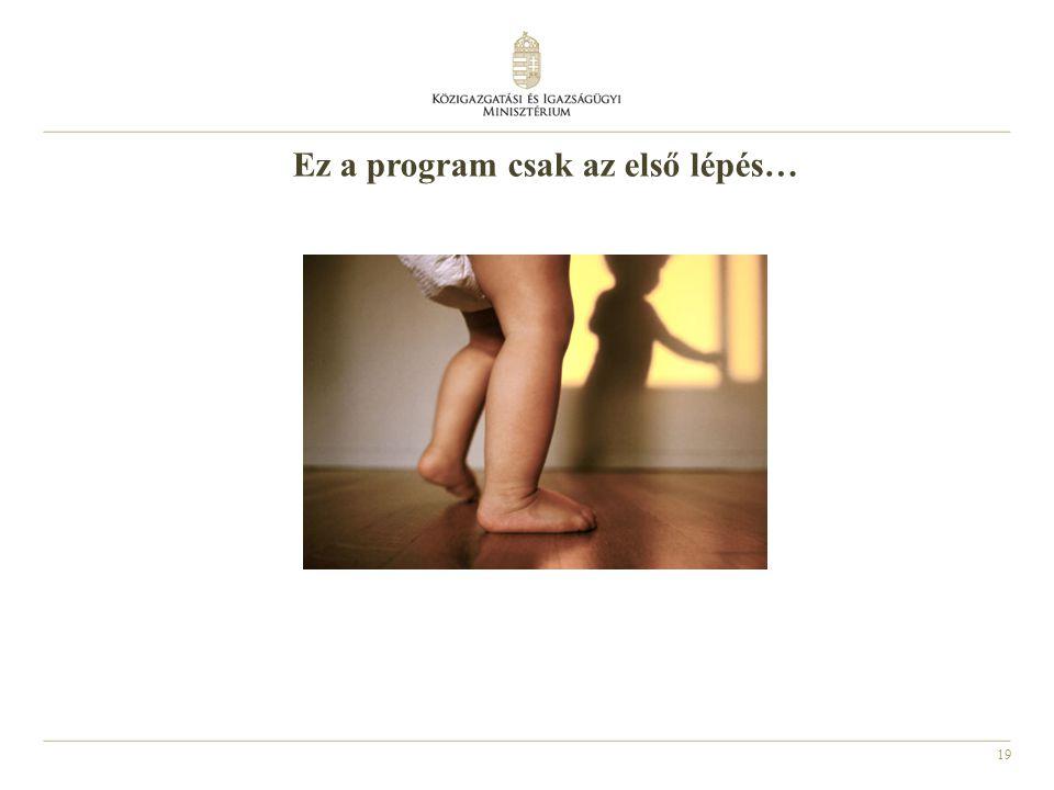 Ez a program csak az első lépés…