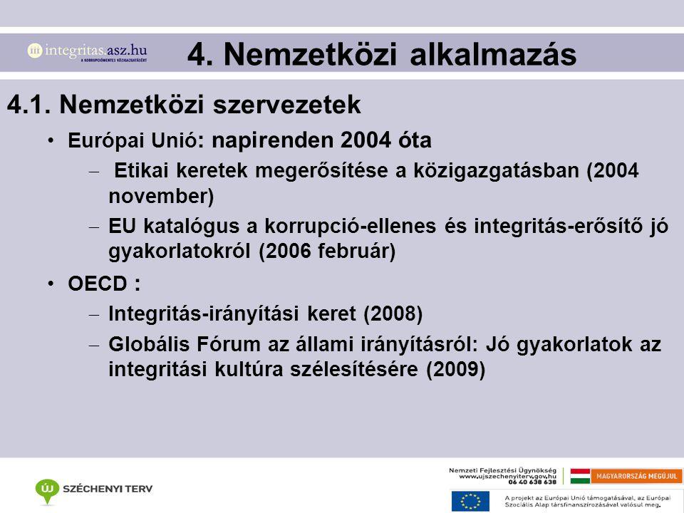4. Nemzetközi alkalmazás