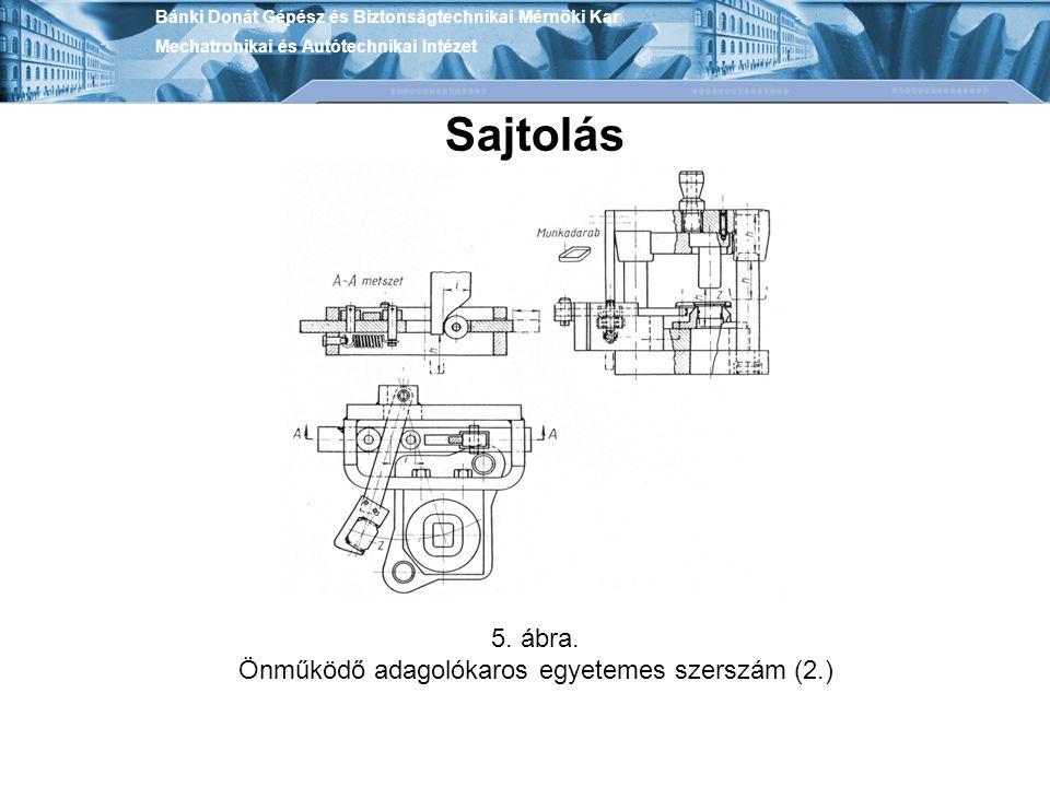 Önműködő adagolókaros egyetemes szerszám (2.)