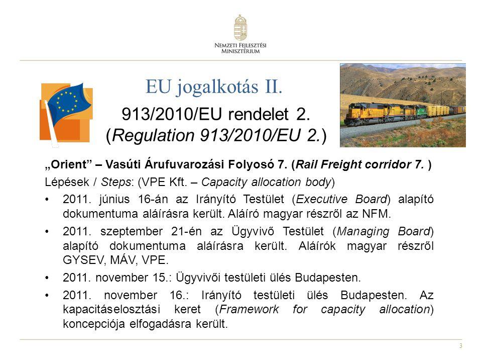 913/2010/EU rendelet 2. (Regulation 913/2010/EU 2.)