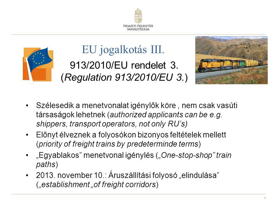 913/2010/EU rendelet 3. (Regulation 913/2010/EU 3.)
