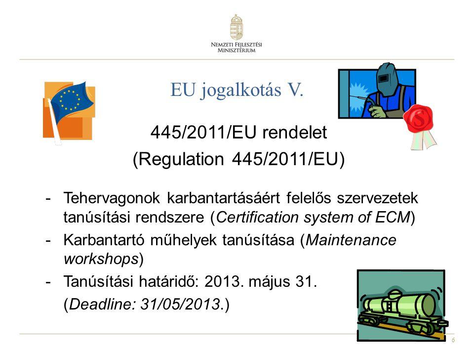 445/2011/EU rendelet (Regulation 445/2011/EU)