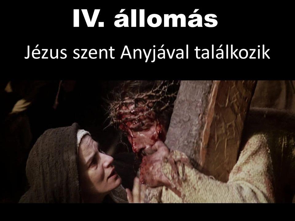 Jézus szent Anyjával találkozik