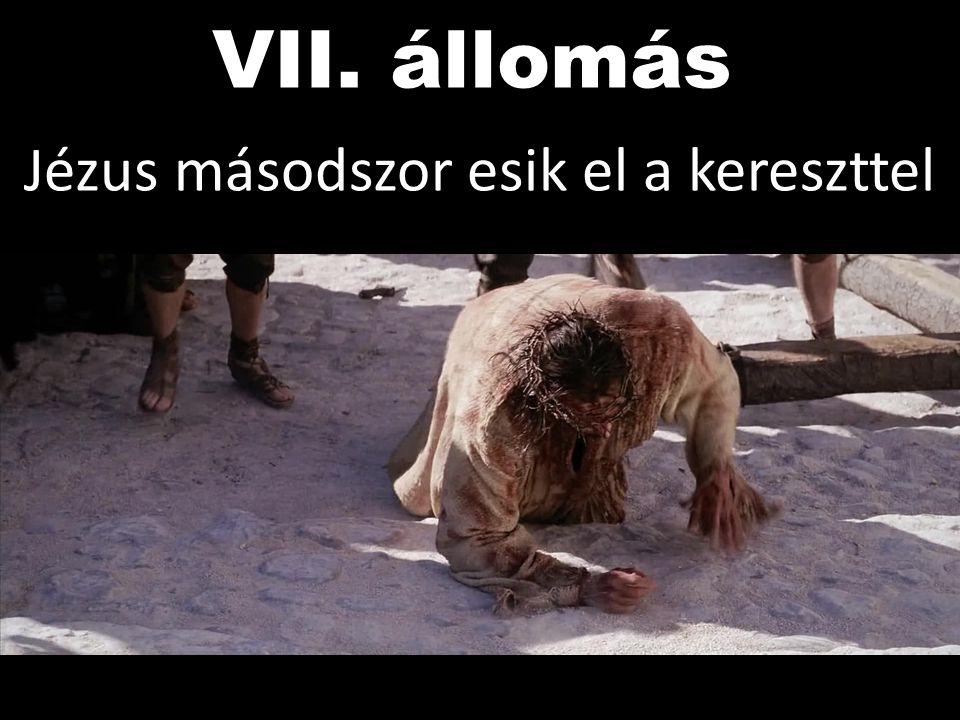 Jézus másodszor esik el a kereszttel