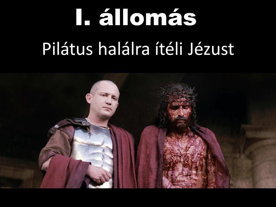 Pilátus halálra ítéli Jézust