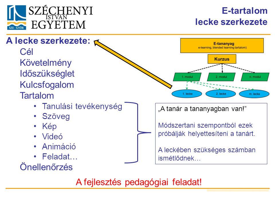 A fejlesztés pedagógiai feladat!