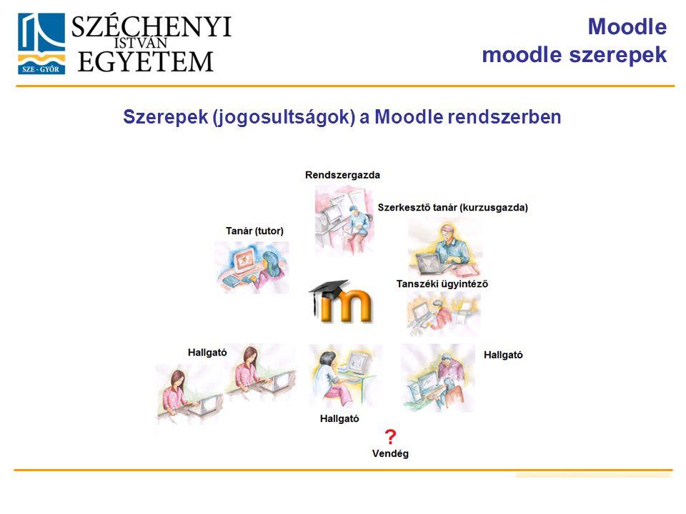 Szerepek (jogosultságok) a Moodle rendszerben
