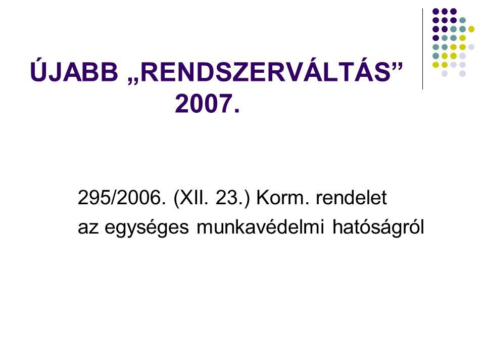 """ÚJABB """"RENDSZERVÁLTÁS 2007."""