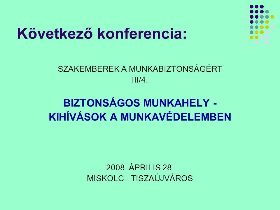 Következő konferencia: