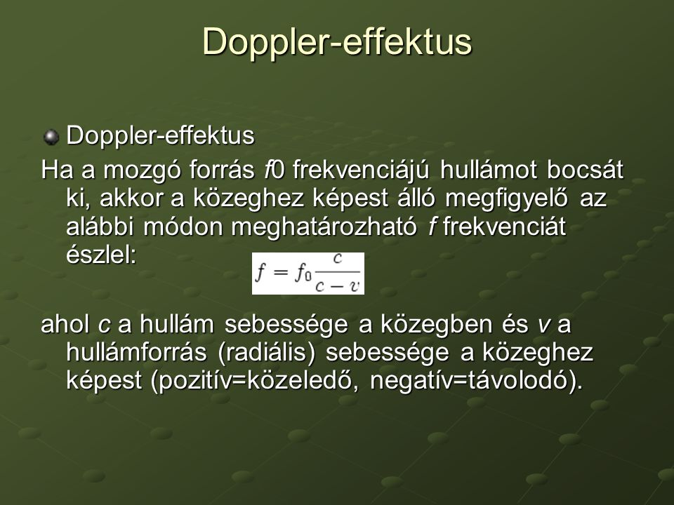 Doppler-effektus Doppler-effektus